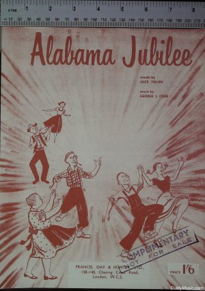 Alabama jubilee - Old Sheet Music by Francis Day & Hunter