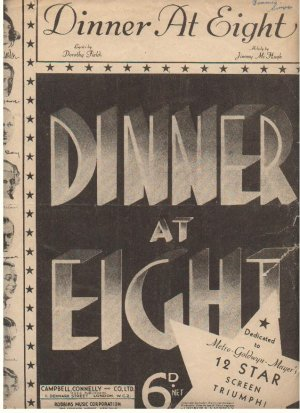 Dinner at eight - Old Sheet Music by Campbell Connelly