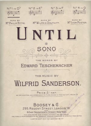 Until - Old Sheet Music by Boosey & Co