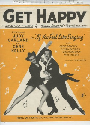 Get happy - Old Sheet Music by Francis Day & Hunter