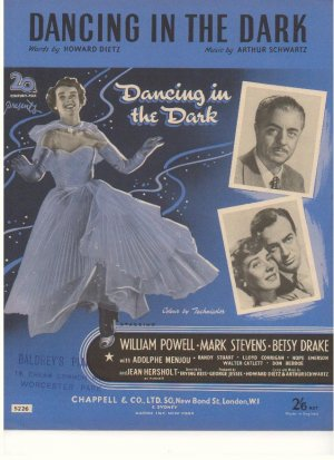 Dancing in the dark - Old Sheet Music by Chappell