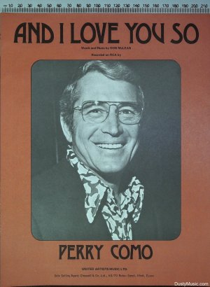And I love you so - Old Sheet Music by United