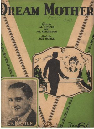 Dream mother - Old Sheet Music by Campbell Connelly