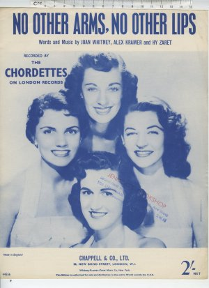 No other arms no other lips - Old Sheet Music by Chappell