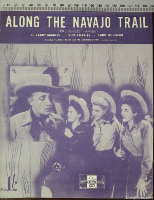 Along the Navajo trail - Old Sheet Music by Peter Maurice