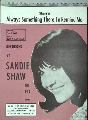 Always something there to remind me - Old Sheet Music by December