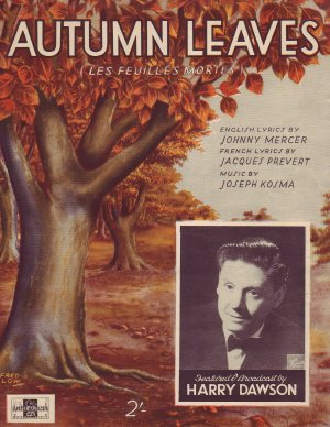 Autumn leaves - Old Sheet Music by Peter Maurice