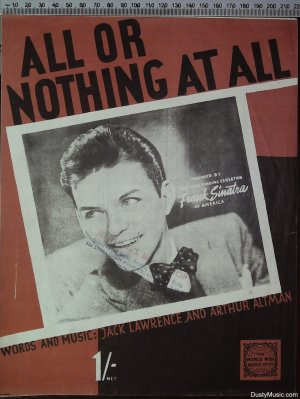 All or nothing at all - Old Sheet Music by World Wide Music