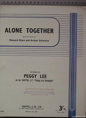 Alone together - Old Sheet Music by Chappell