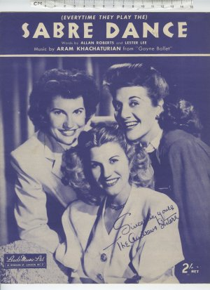 Sabre dance - Old Sheet Music by Leeds