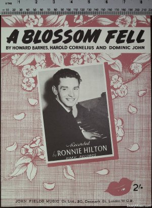 A blossom fell - Old Sheet Music by John Fields