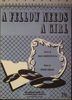 A fellow needs a girl - Old Sheet Music by Williamson