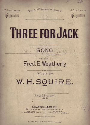 Three for Jack - Old Sheet Music by Chappell
