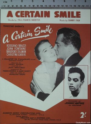 A certain smile - Old Sheet Music by Francis Day & Hunter