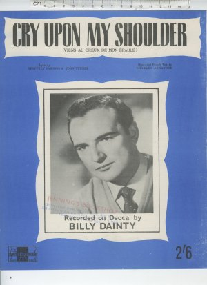 Cry upon my shoulder - Old Sheet Music by Peter Maurice