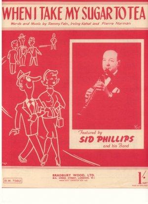 When I take my sugar to tea - Old Sheet Music by Bradbury Wood