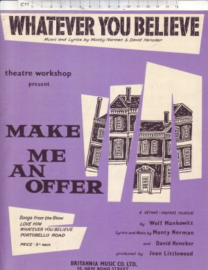 Whatever you believe - Old Sheet Music by Britannia