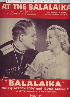 At the balalaika - Old Sheet Music by Prowse