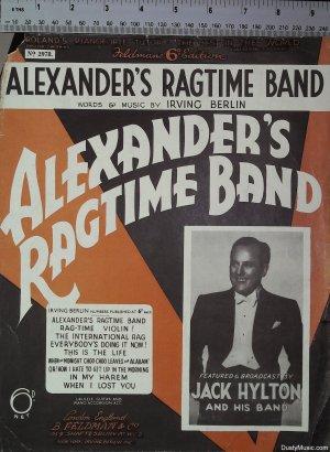 Alexander's ragtime band - Old Sheet Music by Feldman