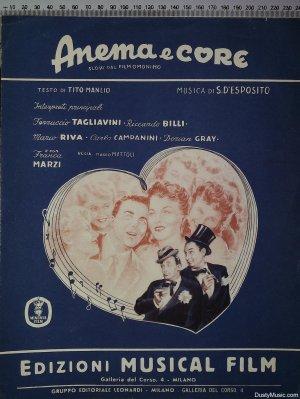 Anema e core - Old Sheet Music by Gruppo Editoriale Leonardi