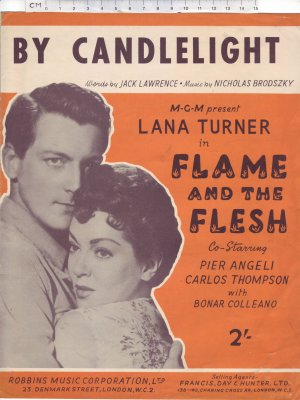 By candlelight - Old Sheet Music by Francis Day & Hunter