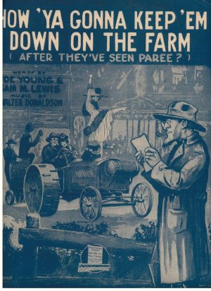 How 'ya gonna keep 'em down on the farm - Old Sheet Music by Waterson, Berlin & Snyder