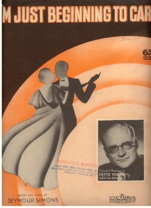 I'm just beginning to care - Old Sheet Music by Victoria