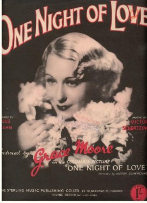One night of love - Old Sheet Music by Sterling