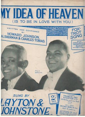 My idea of heaven - Old Sheet Music by Francis Day & Hunter