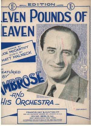 Leven pounds of heaven - Old Sheet Music by Francis Day & Hunter