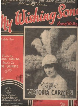 My wishing song - Old Sheet Music by Feldman