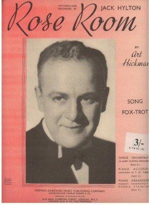 Rose room - Old Sheet Music by Darewski