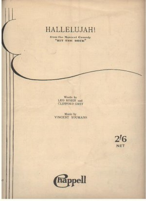 Hallelujah - Old Sheet Music by Chappell