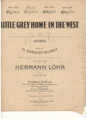 Little grey home in the west - Old Sheet Music by Chappell