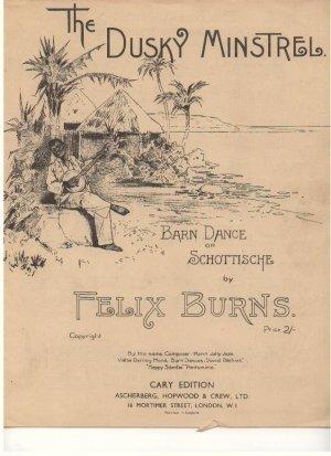 The dusky minstrell - Old Sheet Music by Ascherberg Hopwood & Crew