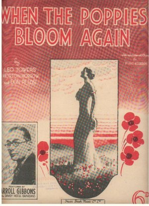When the poppies bloom again - Old Sheet Music by Dash