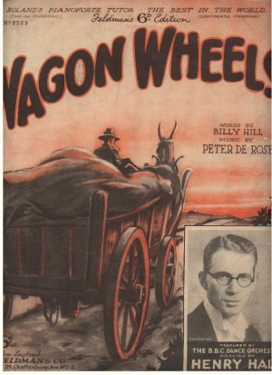 Wagon Wheels - Old Sheet Music by Feldman
