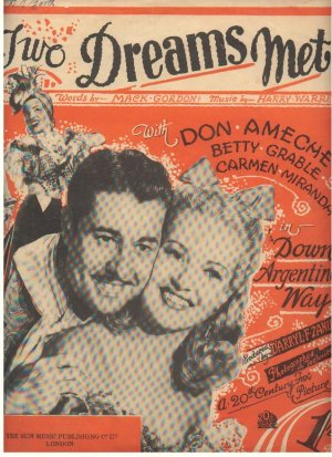 Two dreams met - Old Sheet Music by Sun