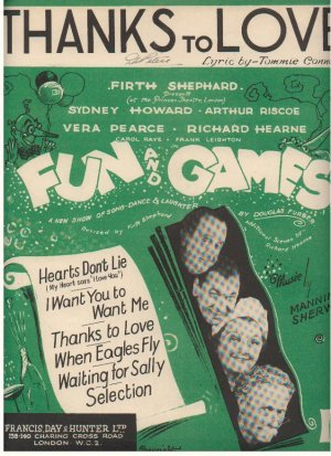 Thanks to love - Old Sheet Music by Francis Day & Hunter