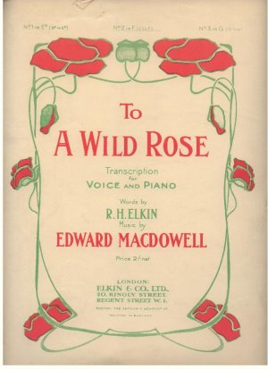 To a wild rose - Old Sheet Music by Elkin