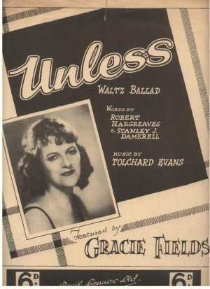 Unless - Old Sheet Music by Cecil Lennox