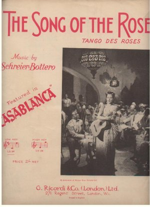 The song of the rose - Old Sheet Music by Riccordi