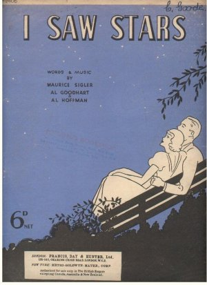 I saw stars - Old Sheet Music by Francis Day & Hunter