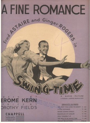 A fine romance - Old Sheet Music by Chappell