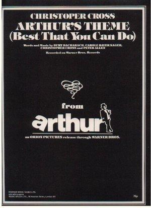 Arthur's theme - Old Sheet Music by Warner Bros