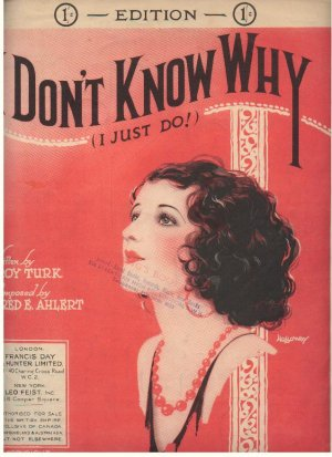 I don't know why - Old Sheet Music by Francis Day & Hunter