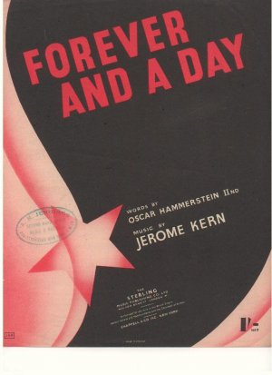 Forever and a day - Old Sheet Music by Sterling