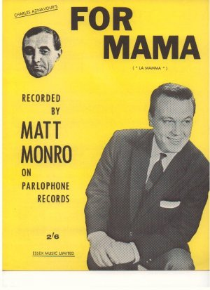 For mama - Old Sheet Music by Essex