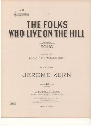 The folks who live on the hill - Old Sheet Music by Chappell