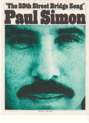 The 59th Street bridge song - Old Sheet Music by Paul Simon